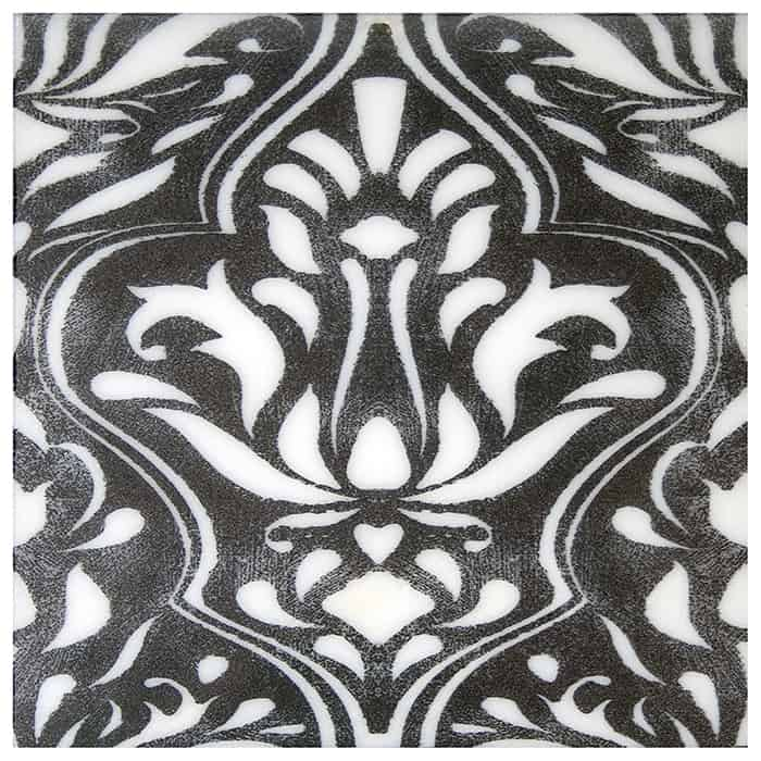 Lillian Pattern (Coal) on Carrara