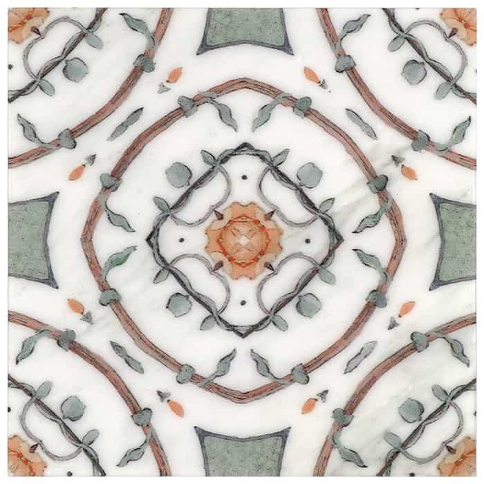 Nira Pattern (Poppy) on Carrara