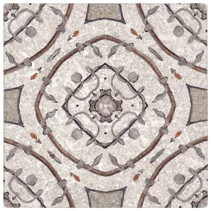 Nira Pattern (Pecan) on Perle Blanc
