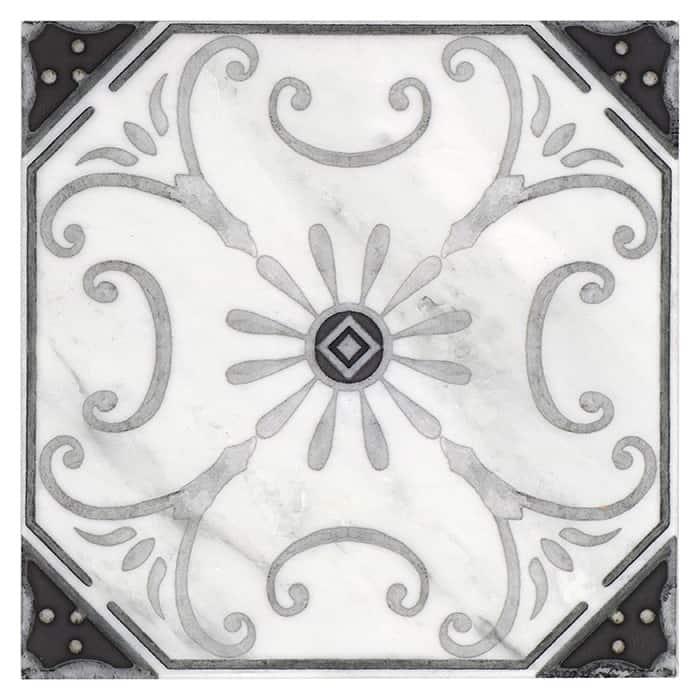 Solana Pattern (Shade) on Carrara
