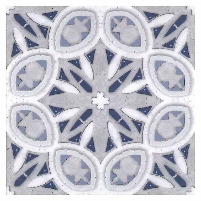 Solstice Pattern (Arctic) on Carrara