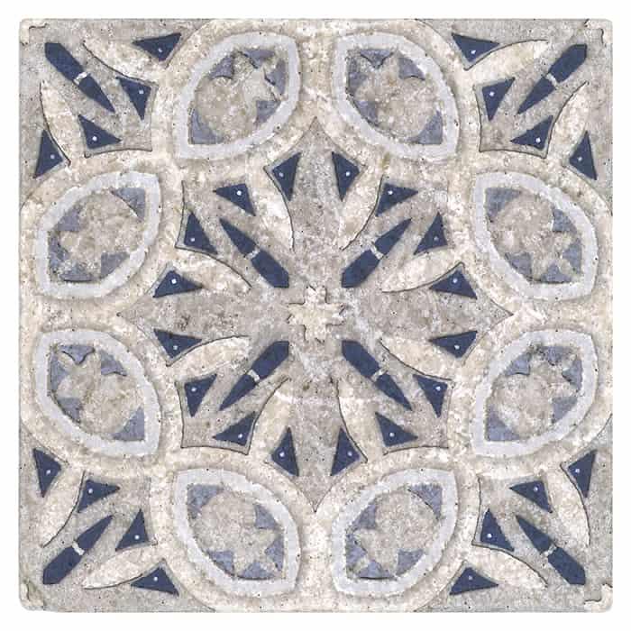 Solstice Pattern (Arctic) on Perle Blanc