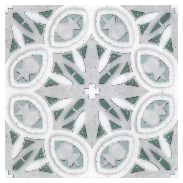 Solstice Pattern (Envy) on Carrara