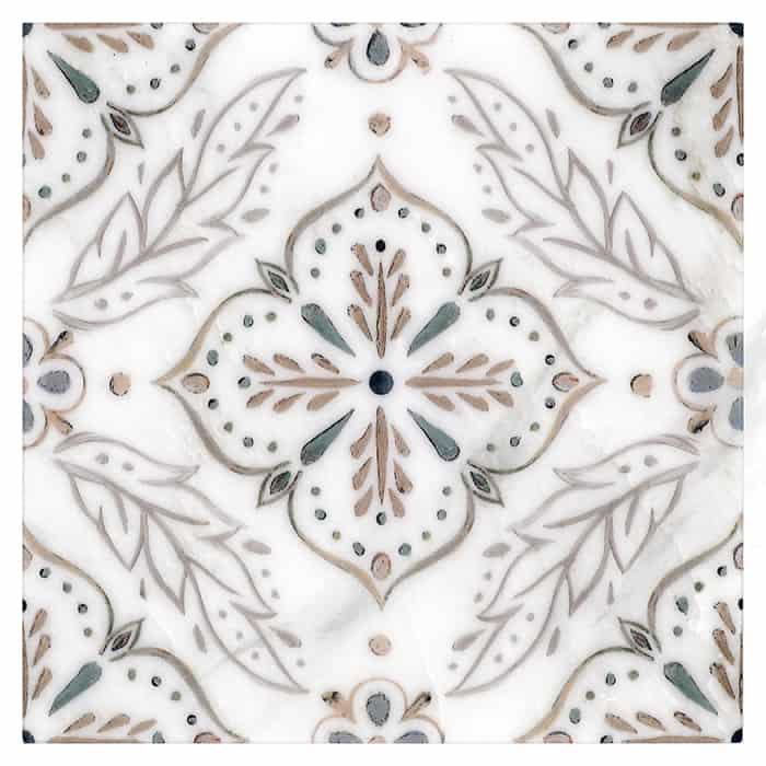 Willow Pattern (Walnut) on Carrara