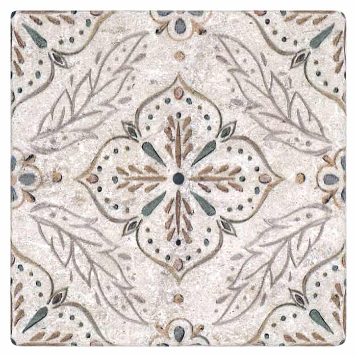 Willow Pattern (Walnut) on Perle Blanc
