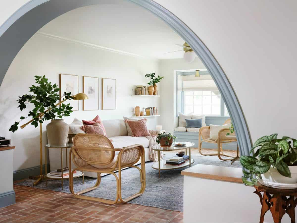 Fixer upper home arched arch way in waco texas