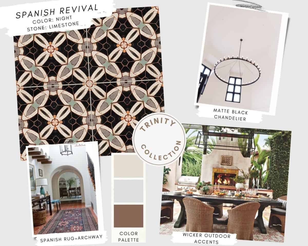 Trinity tile collection Spanish revival mood board