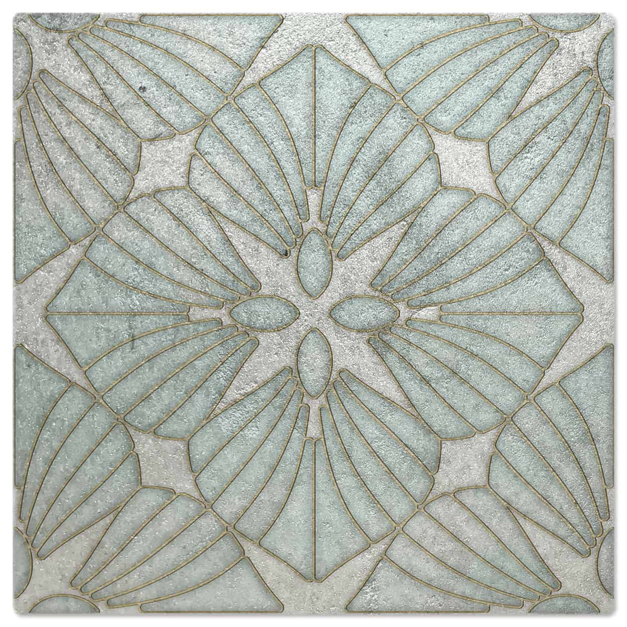 D'Orsay Aquamarine Luster Pattern Tile