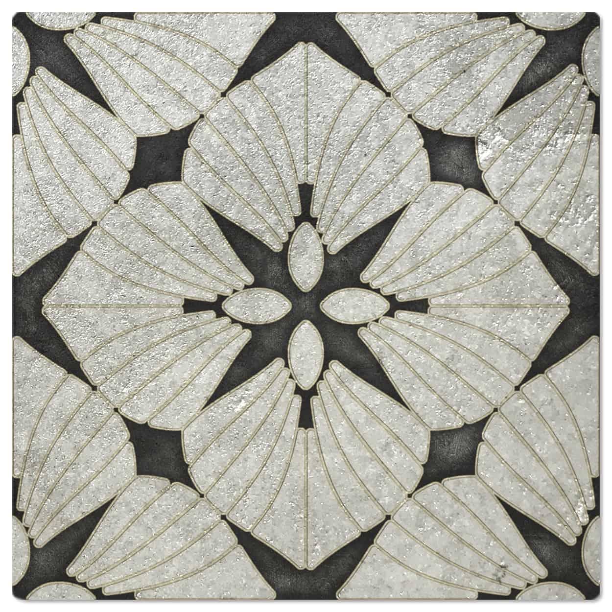 D'Orsay Melanite Luster Pattern Tile