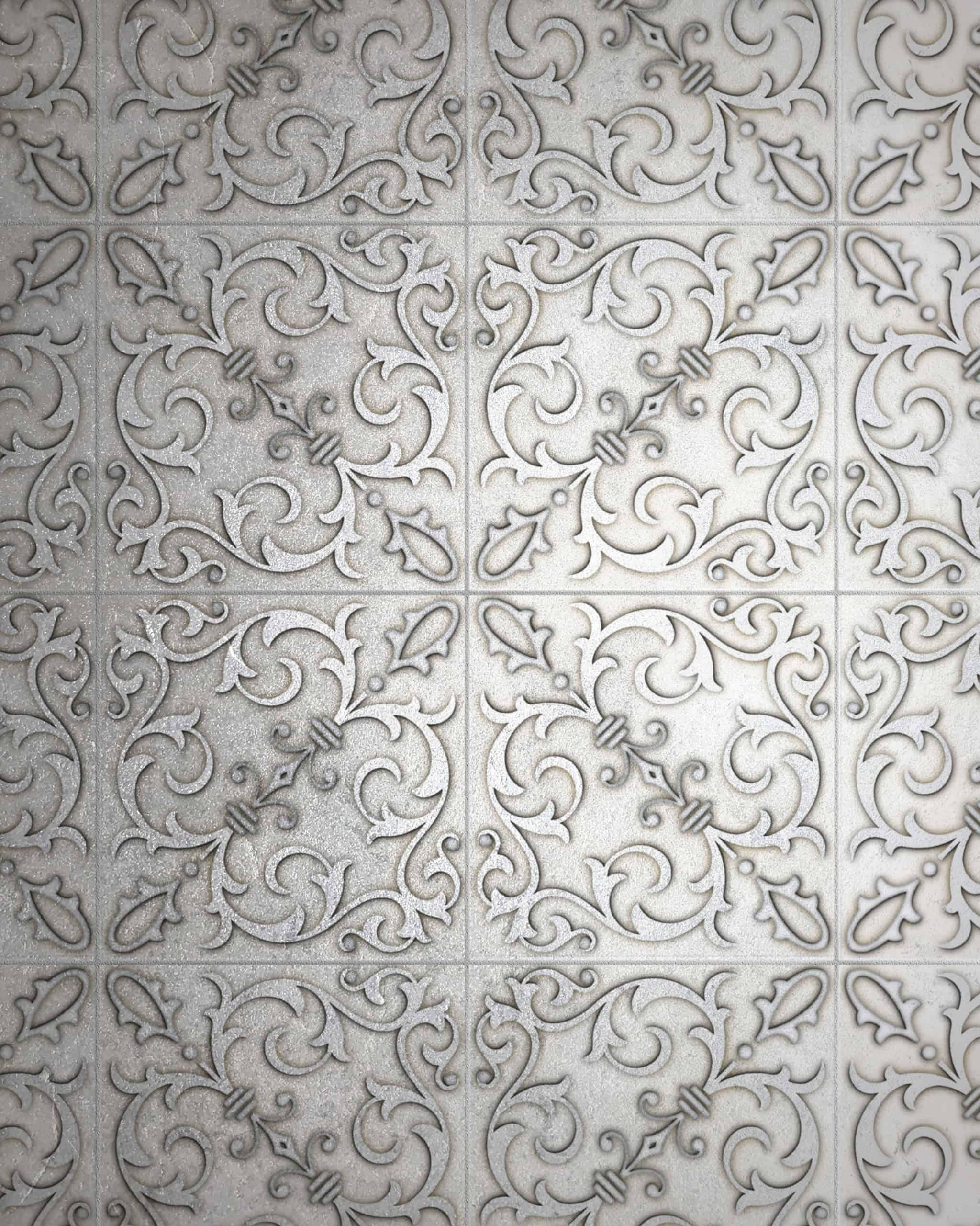Jacquard Wall Detail Silver Luster Pattern Tile