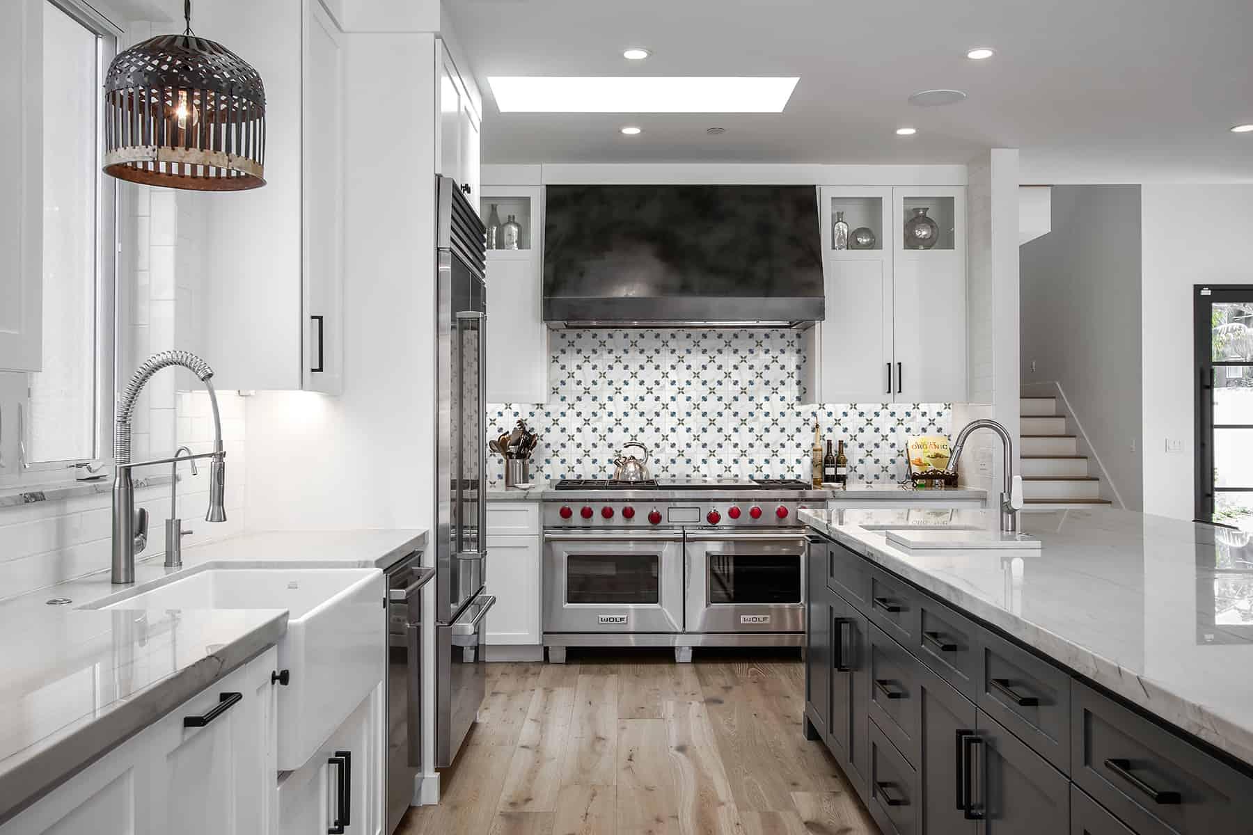Jax (Blueberry) Carrara Kitchen Backsplash