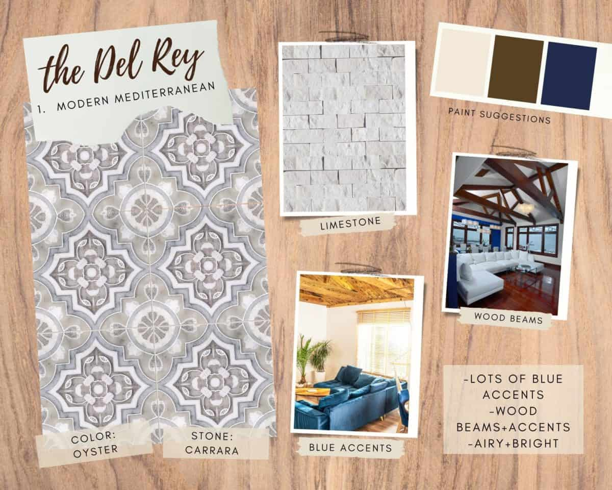Del Rey in Oyster on Carrara Mood Board