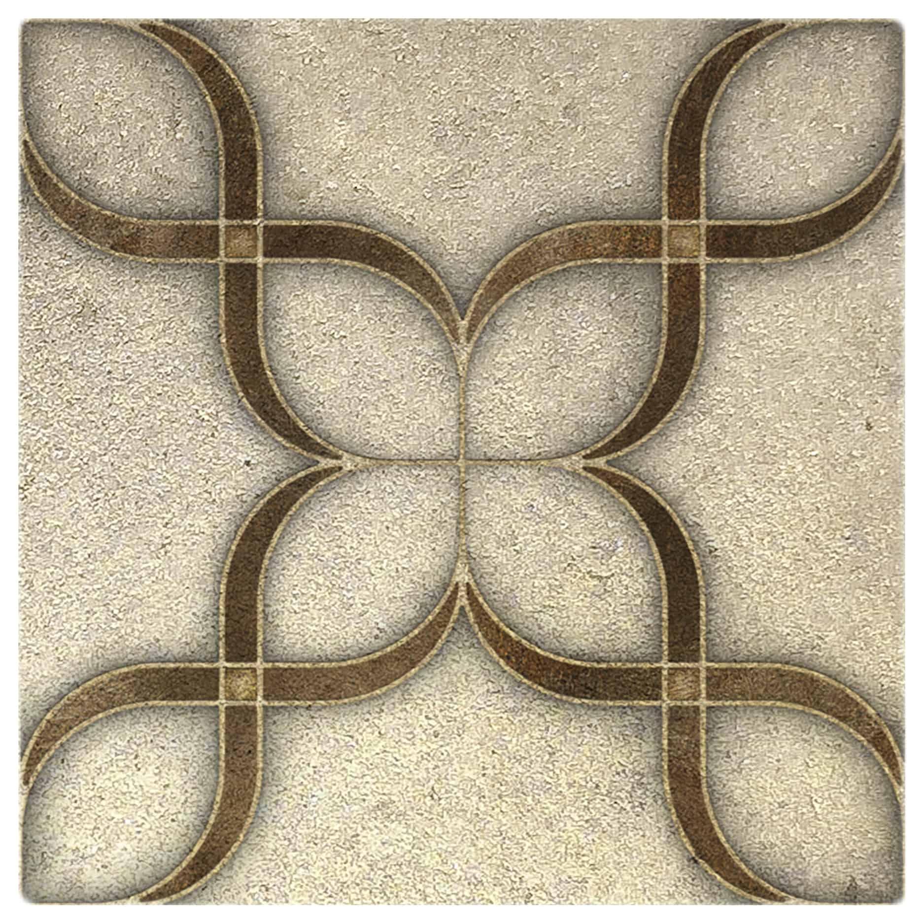 Crofton Amber Luster Pattern Tile