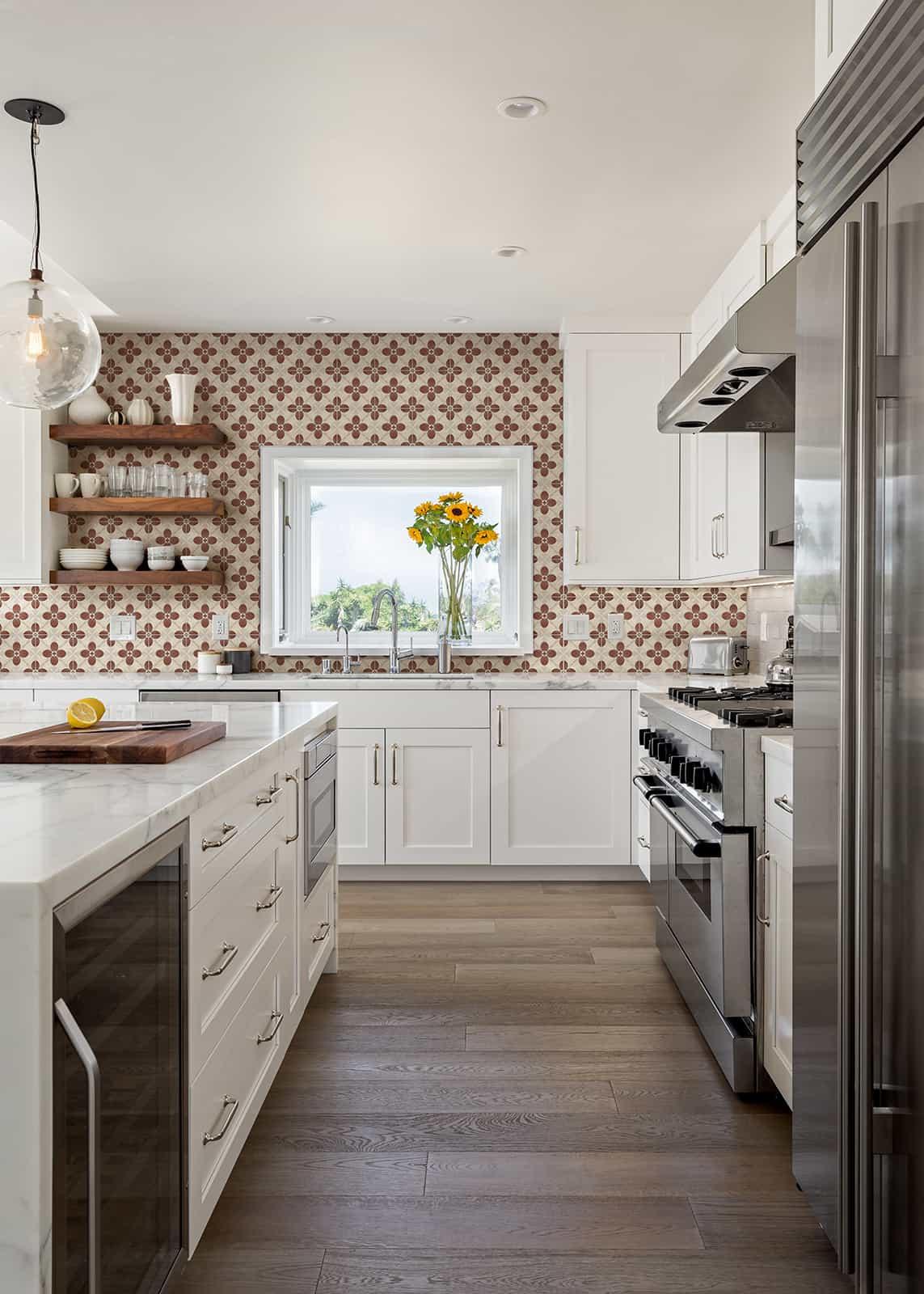 Harper (Cranberry) Kitchen Backsplash