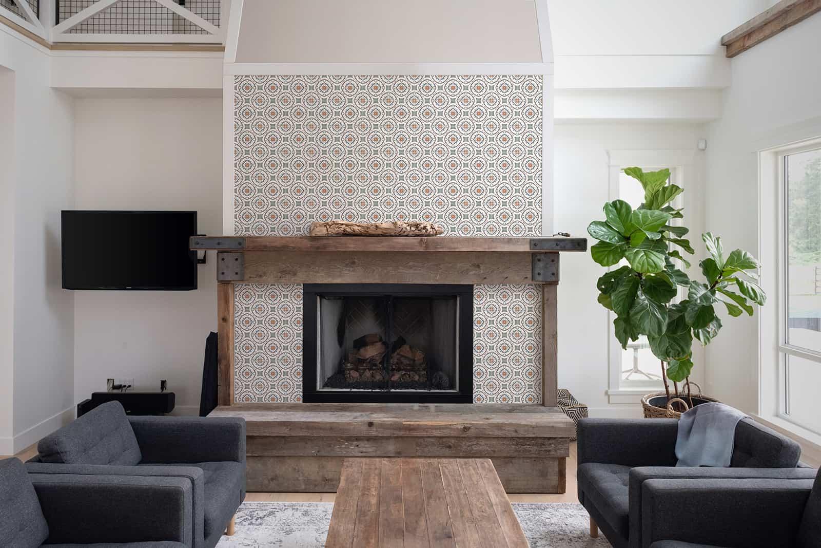 Nira (Poppy) Carrara Fireplace