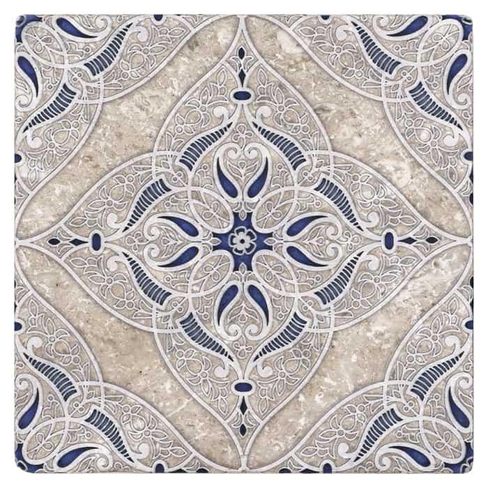 Granada - Sapphire - Perle Blanc