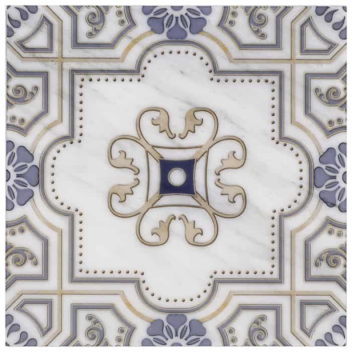 Harlan - Blue - Carrara