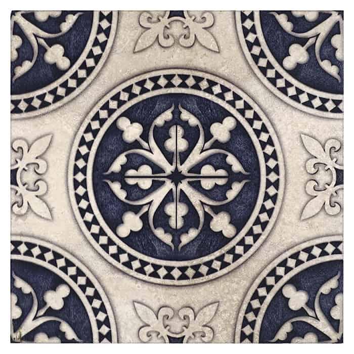 Regent - Batik Blue - Honed Durango