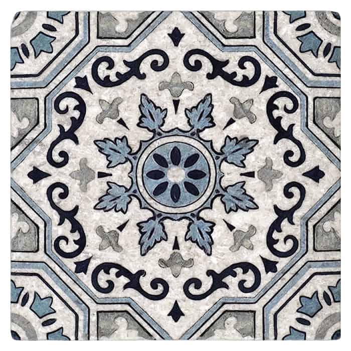 Sanza - Snowflake Blue - Perle Blanc
