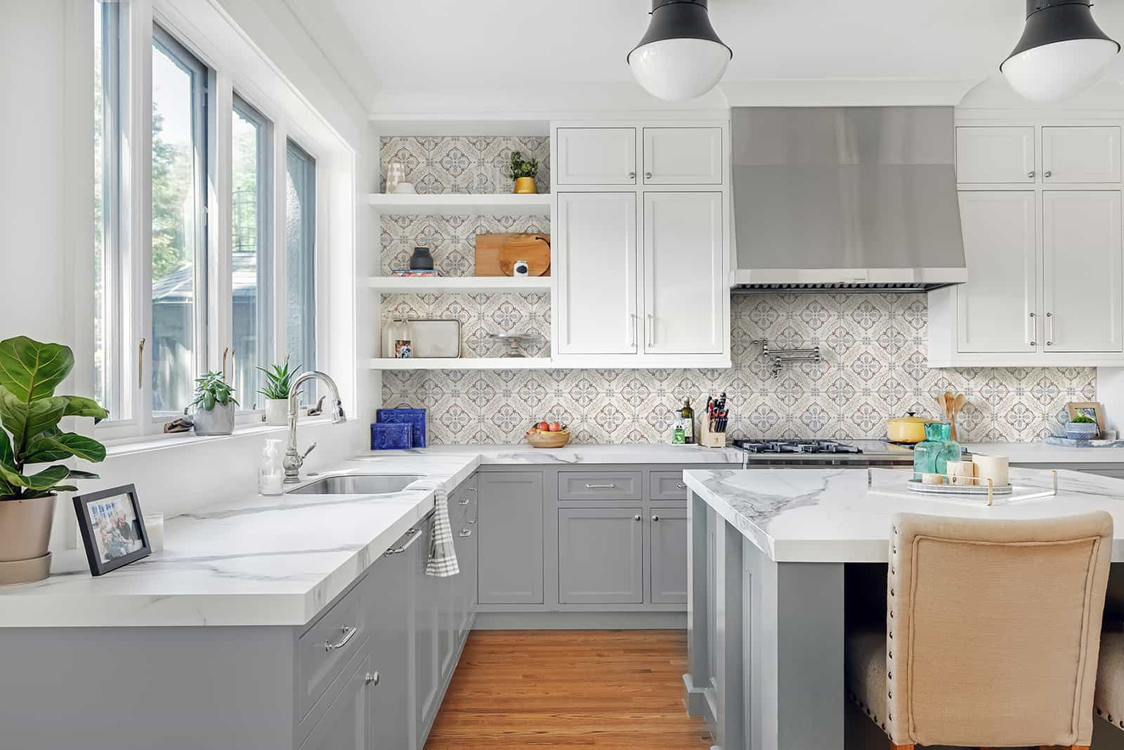 Willow (Clay) Carrara Kitchen Backsplash