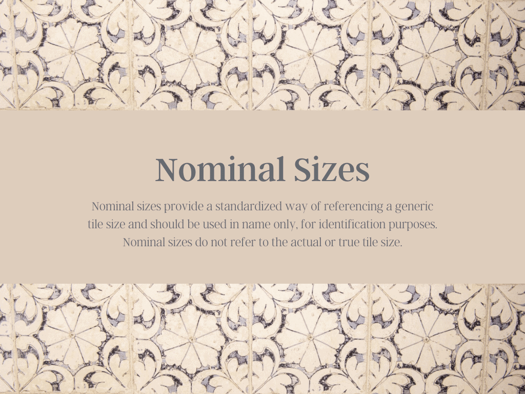 Nominal Sizes Defined