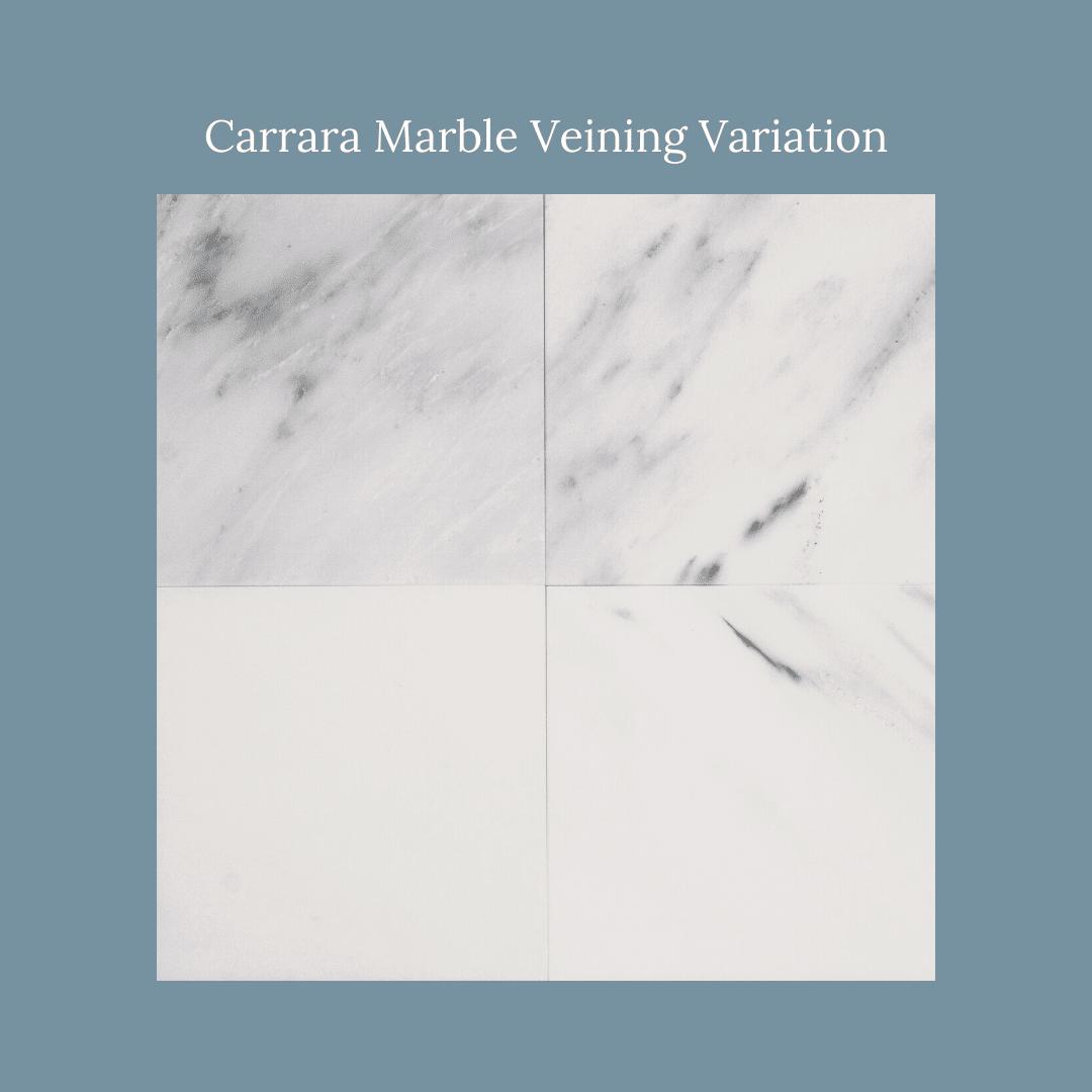 Carrara Marble Veining Variation